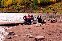 /images/133/2004-09-maroon-people4.jpg - #02227: People at Maroon Lake with Maroon Peaks in the background … Sept 2004 -- Maroon Lake, Maroon Bells, Colorado