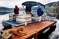 /images/133/2004-09-twinlakes-boat01.jpg - #02206: Ruby (Golden Retriever) at Twin Lakes … Sept 2004 -- Twin Lakes, Colorado