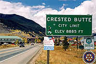 /images/133/2004-10-crested-sign.jpg - #02342: Crested Butte sign … Oct 2004 -- Crested Butte, Colorado