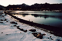 /images/133/2005-02-estes-park-lake-sun.jpg - #02456: twilight at Estes Park, Colorado … Feb 2005 -- Estes Park, Colorado