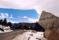 /images/133/2005-02-estes-park-sign.jpg - #02457: Estes Park, Colorado … Feb 2005 -- Estes Park, Colorado