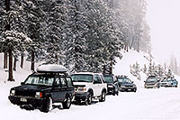 /images/133/2005-02-evans-cars-parked.jpg - #02458: road before Mt Evans … Feb 2005 -- Mt Evans, Colorado