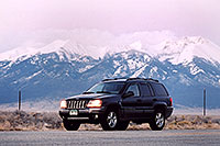 /images/133/2005-03-blanca-jeep-evening.jpg - #02466: Blanca evening … along Spanish Trail … March 2005 -- Blanca Peak, Colorado
