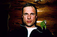 /images/133/2005-03-me-constantine.jpg - #02545: me & Constantine … when I got sunburned from snow reflection on a cloudless day … March 2005 -- Durango, Colorado