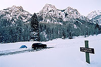 /images/133/2005-03-ouray-camping.jpg - #02551: my custom campspot … 6am in Ouray … March 2005 -- Ouray, Colorado