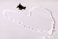 /images/133/2005-03-ouray-me-heart.jpg - #02555: Heart in the snow … March 2005 -- Silverton, Colorado