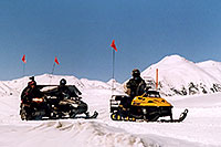 /images/133/2005-03-ouray-snowmobilers1.jpg - #02565: Snowmobilers at Molas Pass Summit … March 2005 -- Molas Pass, Colorado
