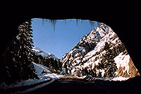 /images/133/2005-03-ouray-tunnel1.jpg - #02567: tunnel near Ouray … heading to Silverton … March 2005 -- Ouray, Colorado