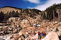 /images/133/2005-03-rockmtn-people-fall.jpg - #02526: Rocky Mtn National park, near Estes Park … March 2005 -- Alluvial Fan, Rocky Mountain National Park, Colorado