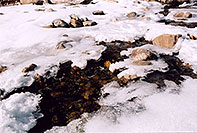 /images/133/2005-03-rockmtn-river-snow.jpg - #02563: Rocky Mtn National park, near Estes Park … March 2005 -- Alluvial Fan, Rocky Mountain National Park, Colorado