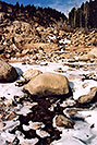 /images/133/2005-03-rockmtn-river-snow2.jpg - #02564: Rocky Mtn National park, near Estes Park … March 2005 -- Alluvial Fan, Rocky Mountain National Park, Colorado