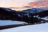 /images/133/2005-03-vail-pass1.jpg - #02593: Vail Pass in the evening … March 2005 -- Vail Pass, Vail, Colorado