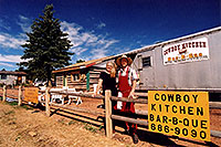 /images/133/2005-09-divide-cowboy1.jpg - #02620: Jeff and Debbie at Cowboy Kitchen Bar-B-Que … Sept 2005 -- Divide, Colorado