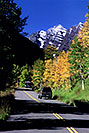 /images/133/2005-09-maroon-road3.jpg - #02676: Bus driving from Maroon Bells … images of Maroon Bells … Sept 2005 -- Maroon Bells, Colorado