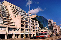 /images/133/2005-10-toronto-city1.jpg - #02664: streetcar along Lakeshore Avenue in Toronto … Oct 2005 -- Toronto, Ontario.Canada