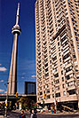/images/133/2005-10-toronto-city4.jpg - #02667: CN Tower rising high along Lakeshore Avenue in Toronto … Oct 2005 -- CN Tower, Toronto, Ontario.Canada