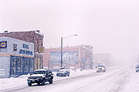 /images/133/2006-01-leadville-street2.jpg - #02663: cars leaving Leadville towards Buena Vista … images of Leadville … Jan 2006 -- Leadville, Colorado