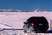 /images/133/2006-02-hartsel-snow6.jpg - #02774: my Jeep entering a snowy side-road heading north … between Wilkerson Pass & Hartsel … Feb 2006 -- Wilkerson Pass, Colorado