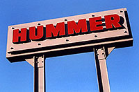 /images/133/2006-02-hummers-sign.jpg - #02794: Medved Hummer sign in Castle Rock … Feb 2006 -- Castle Rock, Colorado
