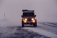 /images/133/2006-02-loveland-jeep3.jpg - #02756: grey Jeep Wrangler in snowstorm at top of Loveland Pass … Feb 2006 -- Loveland Pass, Colorado