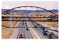 /images/133/2006-03-boulder-bridge-view.jpg - #02836: red VW Beetle Bug heading east to Denver along I-36 … view west towards Boulder … March 2006 -- Boulder, Colorado