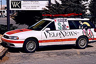 /images/133/2006-03-boulder-velonews-car.jpg - #02793: Velonews car in Boulder … March 2006 -- Boulder, Colorado