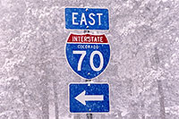 /images/133/2006-03-i70-sign.jpg - #02859: I-70 sign during a March snowstorm near Golden … March 2006 -- I-70, Golden, Colorado