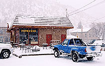 /images/133/2006-03-idaho-springs6.jpg - #02865: blue truck in front of Cafe … images of Idaho Springs … March 2006 -- Idaho Springs, Colorado