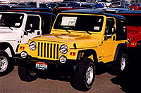 /images/133/2006-03-lithia-jeep-yellow.jpg - #02877: yellow 2006 Jeep Wrangler Sport at Lithia Jeep … March 2006 -- Lithia Jeep, Centennial, Colorado