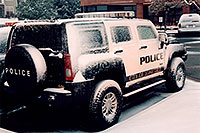 /images/133/2006-03-lonetree-hummers-s2.jpg - #02884: snowy Police Hummers in Lone Tree … March 2006 -- Lone Tree, Colorado