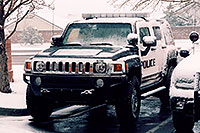 /images/133/2006-03-lonetree-hummers-snow.jpg - #02885: snowy Police Hummers in Lone Tree … March 2006 -- Lone Tree, Colorado