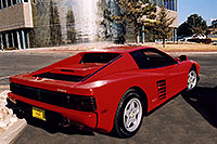 /images/133/2006-03-testarossa-view1.jpg - #02899: red 1990 Ferrari Testarossa at Paragon Motorcars … March 2006 -- Centennial, Colorado