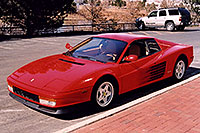 /images/133/2006-03-testarossa-view2.jpg - #02900: red 1990 Ferrari Testarossa at Paragon Motorcars … March 2006 -- Centennial, Colorado
