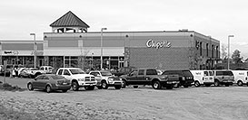 /images/133/2006-10-06-lone-chipotle-bw.jpg - #02976: Chipotle Mexican restaurant in Lone Tree … Oct 2006 -- Lincoln Rd, Lone Tree, Colorado