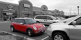 /images/133/2006-10-08-cent-mini04-w.jpg - #02963: red Cooper Mini in Centennial … Oct 2006 -- Centennial, Colorado