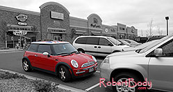 /images/133/2006-10-08-cent-mini04.jpg - #03007: red Cooper Mini in Centennial … Oct 2006 -- Centennial, Colorado