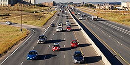 /images/133/2006-10-12-lone-i25-redmini-w.jpg - #02997: red Cooper Mini heading south on I-25 … Oct 2006 -- I-25, Lone Tree, Colorado