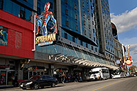 /images/133/2006-10-15-niag-mainstreet2.jpg - #03066: Spider-Man and Hard Rock Café on Main Street in Niagara Falls … Oct 2006 -- Main Street, Niagara Falls, Ontario.Canada