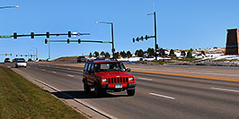 /images/133/2006-10-28-lone-lincoln01-w.jpg - #03129: red Jeep Cherokee on Lincoln Road … Oct 2006 -- Lincoln Rd, Lone Tree, Colorado