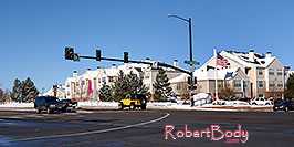 /images/133/2006-11-30-rem-road02.jpg - #03200: yellow Jeep Wrangler at Lincoln and Yosemite Rd in Lone Tree … Nov 2006 -- Yosemite Rd, Lone Tree, Colorado