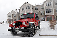 /images/133/2006-12-02-rem-view03.jpg - #03212: red Jeep Wrangler at Remington in Lone Tree … Dec 2006 -- Remington, Lone Tree, Colorado