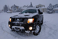 /images/133/2006-12-20-high-xterra.jpg - #03257: Xterra during a snowstorm in Highlands Ranch … Dec 2006 -- Highlands Ranch, Colorado