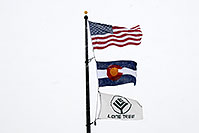 /images/133/2006-12-20-lone-police-flags.jpg - #03267: 3 flags - US flag, Colorado flag and Lone Tree flag … Dec 2006 -- Yosemite Rd, Lone Tree, Colorado