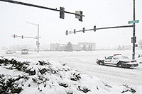 /images/133/2006-12-20-lone-police03.jpg - #03266: Lone Tree Police car during a December snowstorm … Dec 2006 -- Yosemite Rd, Lone Tree, Colorado