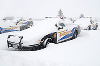 /images/133/2006-12-20-lone-sheriff01.jpg - #03268: Douglas Sheriff Police cars grounded during a snowstorm … Dec 2006 -- Lincoln Rd, Lone Tree, Colorado