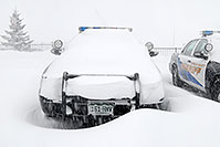 /images/133/2006-12-20-lone-sheriff03.jpg - #03270: Douglas Sheriff Police cars grounded during a snowstorm … Dec 2006 -- Lincoln Rd, Lone Tree, Colorado