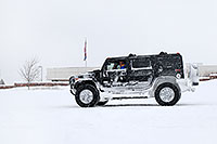 /images/133/2006-12-21-lone-linc-h2.jpg - #03291: black Hummer H2 during December snowstorm … Dec 2006 -- Lincoln Rd, Lone Tree, Colorado
