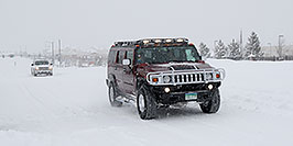 /images/133/2006-12-21-lone-snow02.jpg - #03300: Hummer H2 with Gobi roofrack during December snowstorm … Dec 2006 -- Lone Tree, Colorado