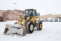 /images/133/2006-12-29-engle-rei-bulldozer.jpg - #03331: Komatsu Front Loader in front of Ultimate Electronics in Englewood, Colorado … December 2006 -- Englewood, Colorado
