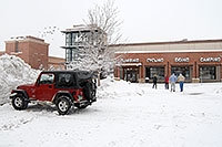 /images/133/2006-12-29-engle-rei-view04.jpg - #03337: red Jeep Wrangler and people walking to REI #61 in Englewood, Colorado … December 2006 -- Englewood, Colorado